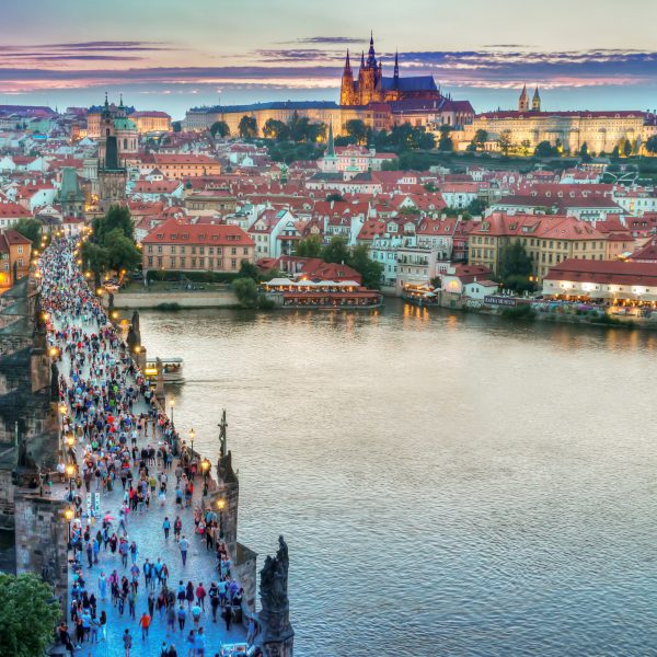 people-on-the-bridge-with-cityscape-in-prague-czech-republic